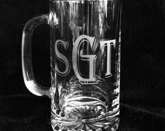 Etched Beer Mug!  Great gift for the man in your life!