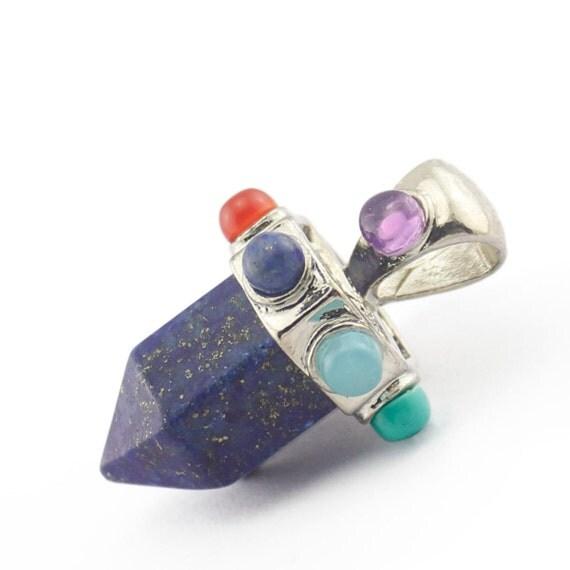 chakra lapis lazuli point pendant healing gemstone