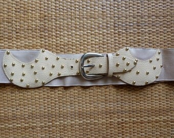 Belt elastic vintage - retro - Golden nails