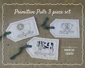 Primitive Pulls 3 Piece Tag Pattern