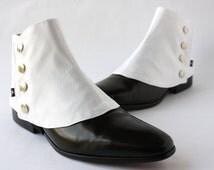 Men's Spats White Ottoman - Dapper Men - Gaiters spats spatterdash