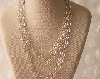 Sterling Silver Chain Style Necklace 100""
