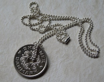 Danish 2 Kroner Coin Necklace