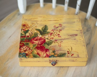 Yellow Box with Flowers
