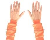 Wrist Zips | Wrist Wallet Cuffs | Tangerine Orange
