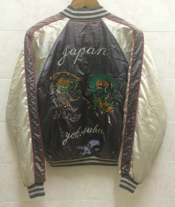 Vintage embroidered souvenir japanese jacket varsity yakuza