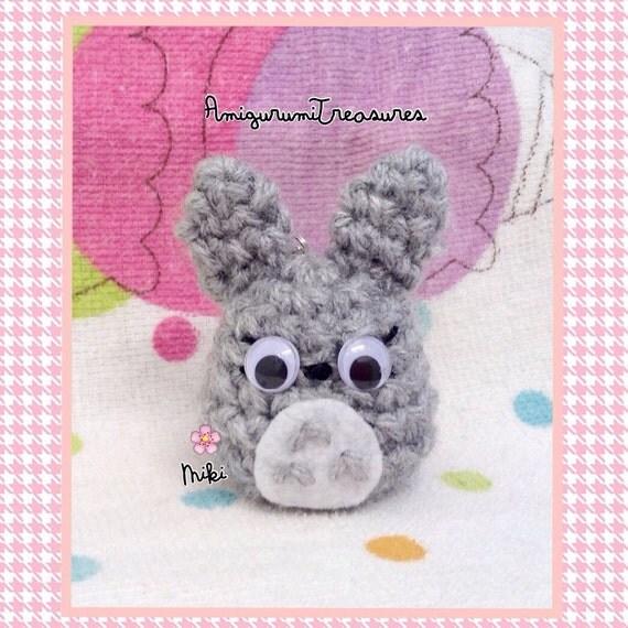 Kawaii Amigurumi Cupcake Keychain : Tiny Totoro amigurumi keychain kawaii Totoro by ...