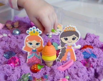 Discovery Kit for Sensory Play (No Box): Glittery Glamour