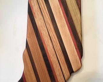 State of Indiana cutting board
