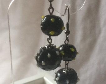 Double globe lampwork Earrings