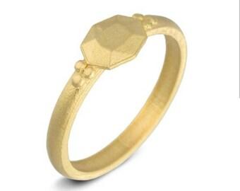 Unique wedding ring for women, gold wedding ring, 18K gold dainty ring, gold gemstone ring for women, gold wedding band