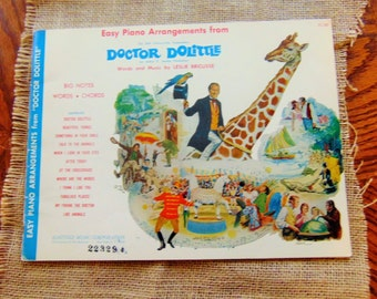 Easy Piano Arrangements from Doctor Dolittle Song Book, Sheet Music