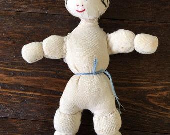 Handmade Muslin Cloth Doll / vintage