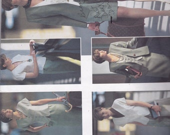 Vogue 2637 Vintage Pattern Womens Jacket, Skirt,Top, Shorts, and Pants size 18,20,22 UNCUT