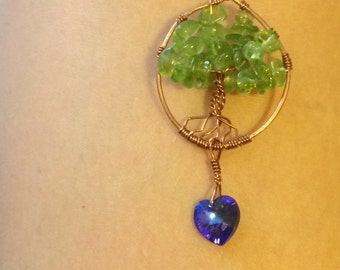 tree with love necklace