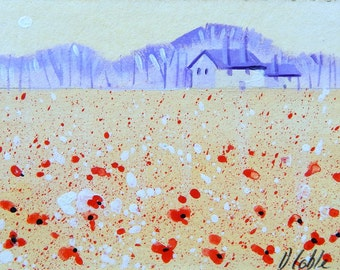 ACEO - of Poppy Field