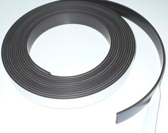 "1"" X 25' - 120 mil Premium Adhesive Magnetic Tape Strip Roll"