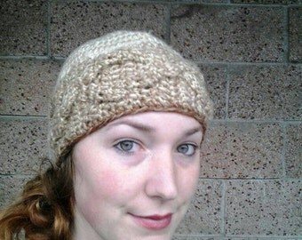 Cabled Beanie, Beanie, Crocheted Beanie, Crocheted Hat, Cabled Hat