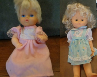 Set of 2 Dolls: Vintage 1987 18 Inch Cititoy Doll & Blonde Haired Blue Eyed Baby Doll Circa 1980s