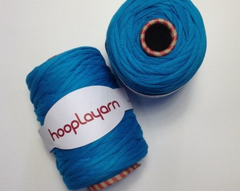 Hoopla jersey recycled Blue t-shirt yarn