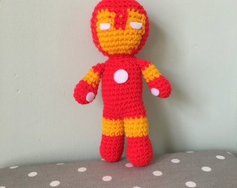 Iron Man Amigurumi Figure Doll