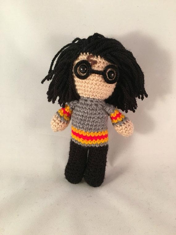 Amigurumi Glasses : Harry Potter Amigurumi Figure Doll with glasses and lightning