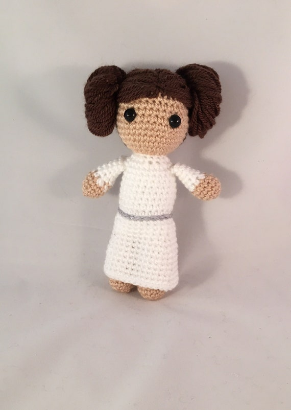 Amigurumi Doll Hair Bun : Princess Leia Organa Crochet Amigurumi by PixiePlunksCrochet