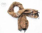 Thai Cotton Scarf - soft texture, hand woven, oranigc dyes, handmade shawl/scarf
