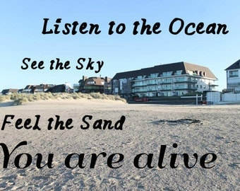 Beach Photo Print w/ Inspirational Quote