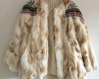 Tribal leather coat