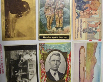 6 Vintage Postcards I Picked Off A Flea Market Table 1900-1944