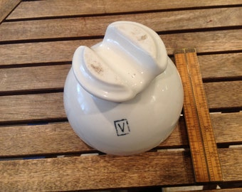 RARE Vintage White Porcelain Victor High Voltage Electrical Insulator - Victor, New York