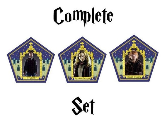 Zany image in printable chocolate frog cards