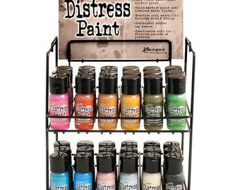 Set of 12 Ranger Tim Holtz Distress Paint Flip Cap 1oz (New Colors) #2