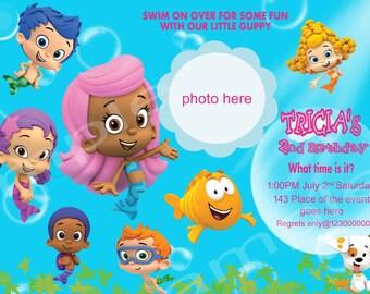 Bubble Guppies Invitation. Bubble Guppies Birthday Invitation. Bubble Guppies Party. Digital (you print)