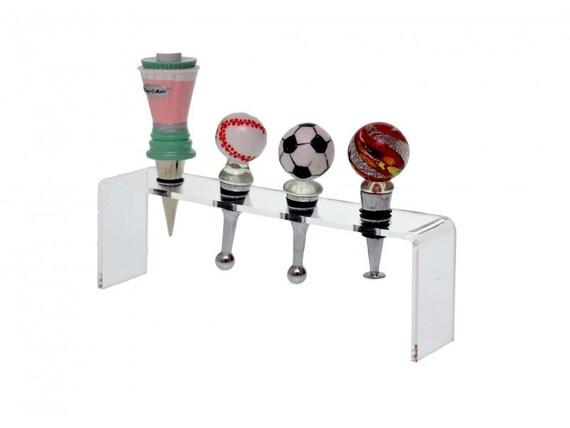 Wine Bottle Stopper Acrylic Display Rack Holds 4 Bottle