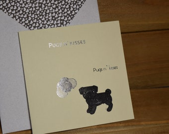 Pugs n' Kisses Card