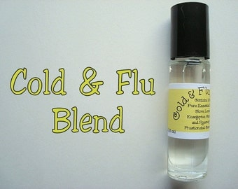 COLD & FLU Blend, Essential Oil Roller Bottle, Pure Essential Oils, Essential Oil Roll On, Immune Booster, Cold and Flu Blend
