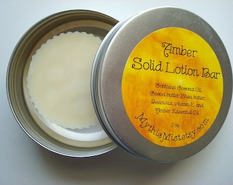 Amber Lotion Bar, Solid Lotion Bar, Amber Solid Perfume, Amber Solid Lotion Bar