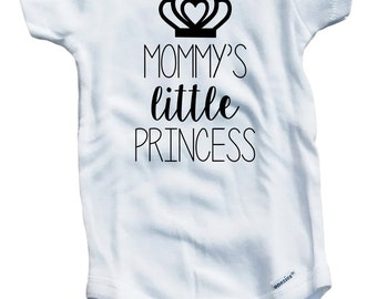 Mommy's little princess on The Laughing Giraffe 7.5 oz Baby Outfit One Piece