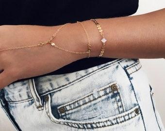 Delicate bracelet, gold bracelet, Swarovski bracelet, gift for her, bridesmaids gift, birthday gift, prom
