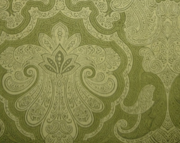Olive Green Damask Pattern Stock Tie