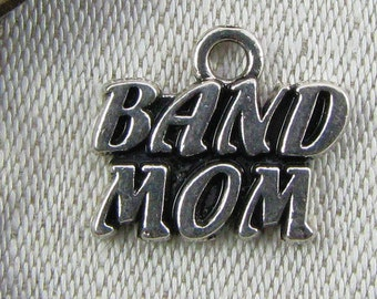 Set of (4) Silver Band Mom Charms, 4 per package ART022