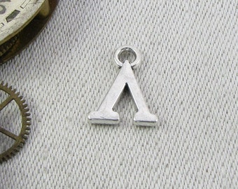 Silver Greek Letter Lambda Charm, 1 or 5 letters per package  ALF009l