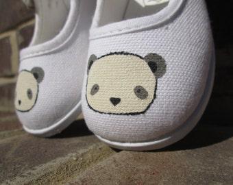 Handpainted Panda Toddler Shoes