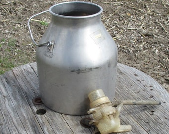 DeLaval Milking Bucket Pail Milk Can Surge Milker Cow Goat Aluminum Vintage