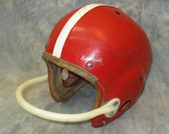 Hutch Babe Parilli Red Football Helmet Leather Vintage Sporting Equipment
