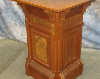 Church Podium Vintage Pulpit Walnut Wood Lectern Altar Catholic Lecture Stand c
