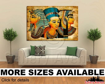 Wall Art Giclee Canvas Picture Print Gallery Wrap Ready to Hang - Old Egyptian papyrus - 60x40 48x32 36x24 24x16 18x12 3.2