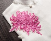 Embroidered Chrysanthemum Appliques,Embroidered Flowers,Sew-on Patches For Dress Supplies,For Dress DIY (161-8)